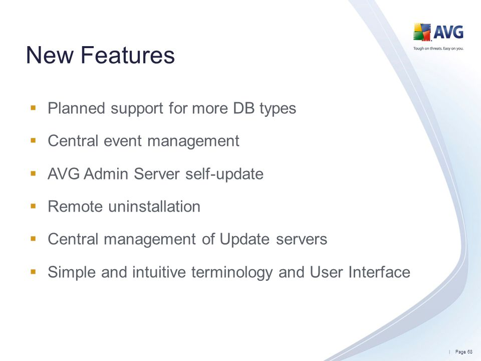 New Features Planned support for more DB types