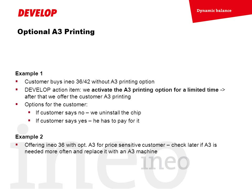 Optional A3 Printing Example 1