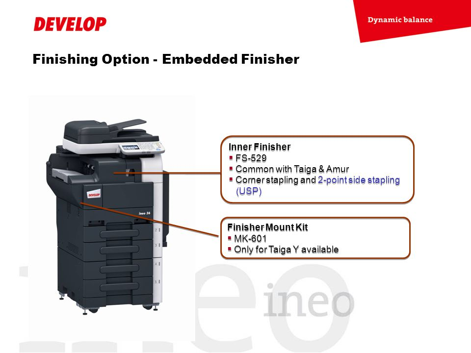 Finishing Option - Embedded Finisher