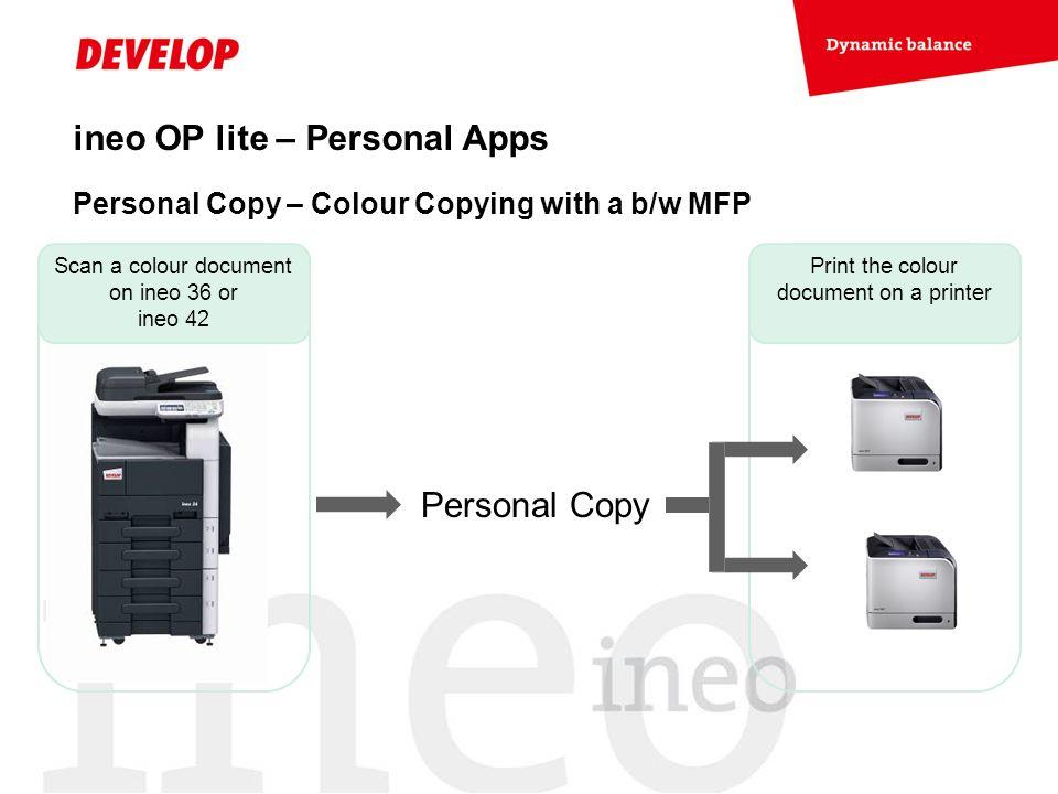 ineo OP lite – Personal Apps