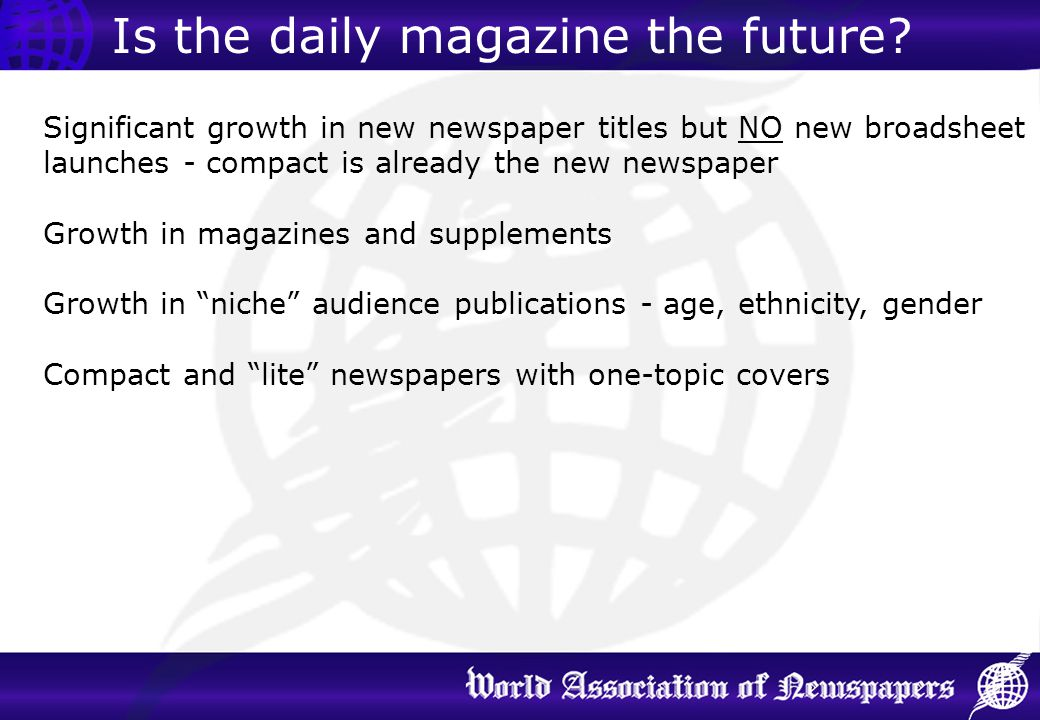 Is the daily magazine the future