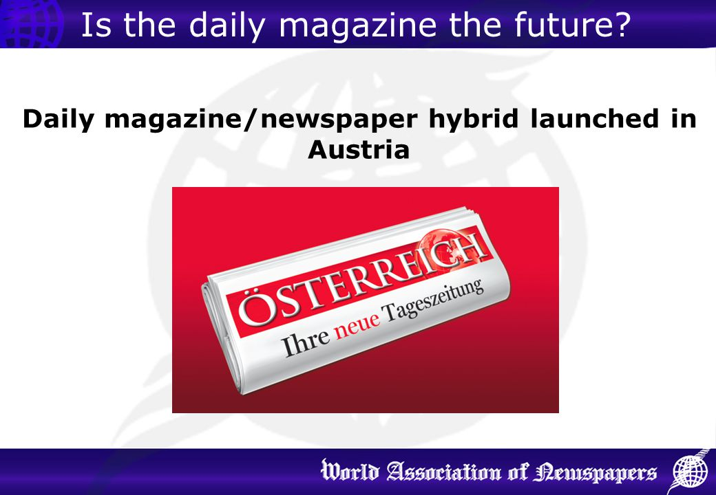 Daily magazine/newspaper hybrid launched in Austria