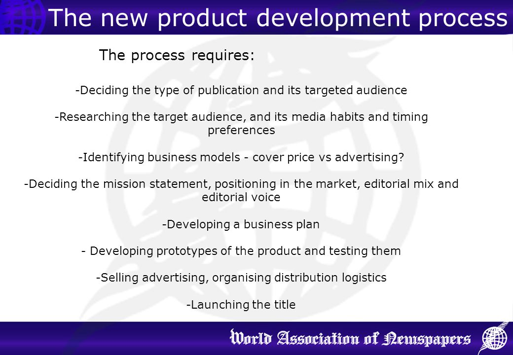 The new product development process