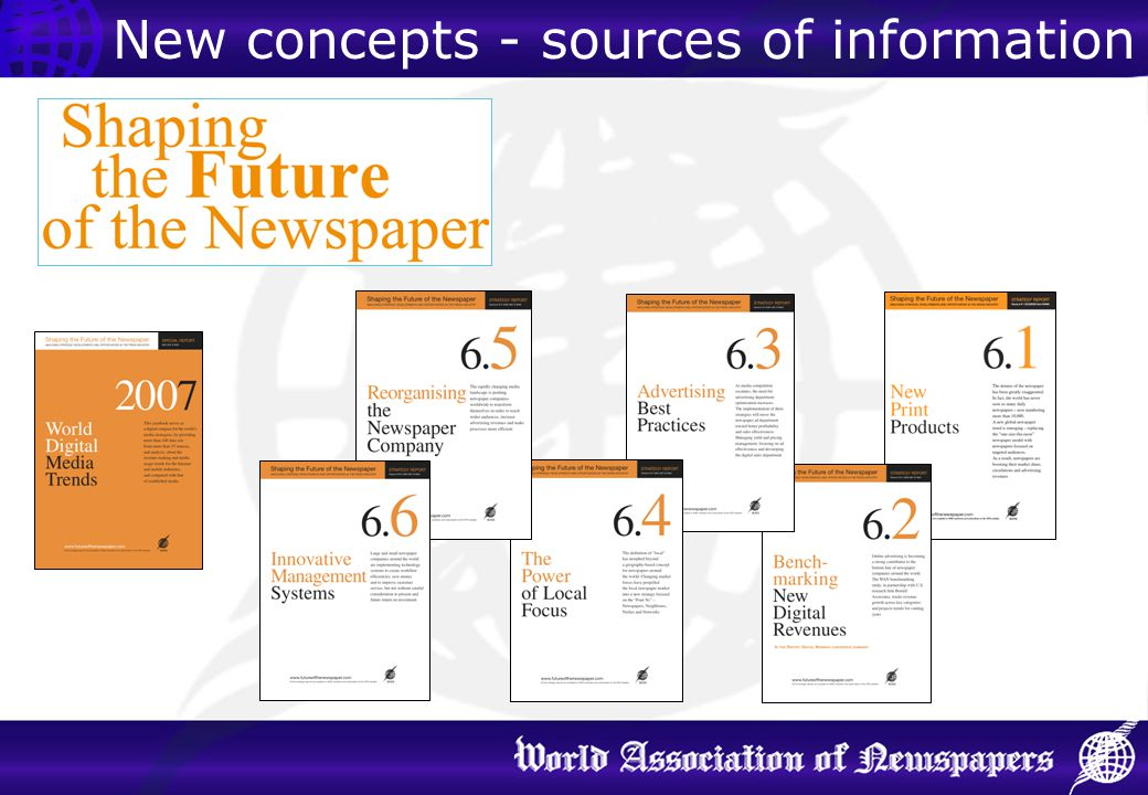 New concepts - sources of information