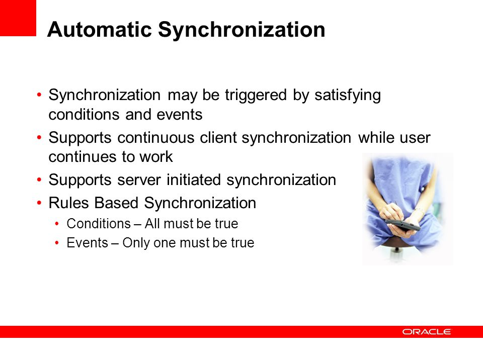 Automatic Synchronization