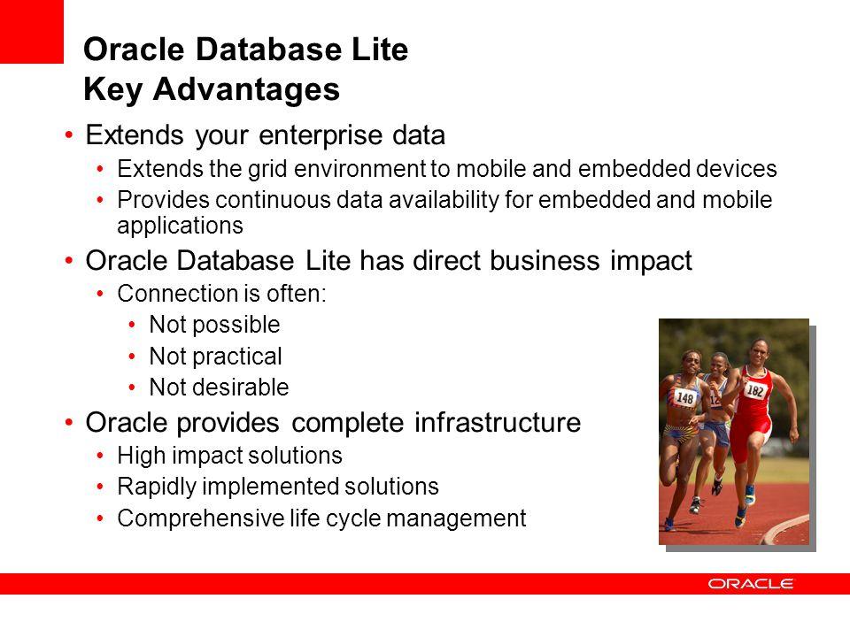 Oracle Database Lite Key Advantages