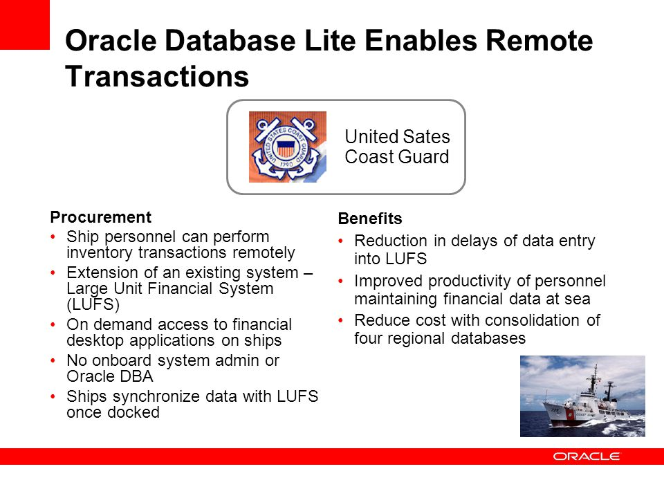 Oracle Database Lite Enables Remote Transactions