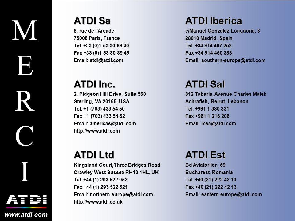 MERCI ATDI Sa ATDI Inc. ATDI Ltd ATDI Iberica ATDI Sal ATDI Est