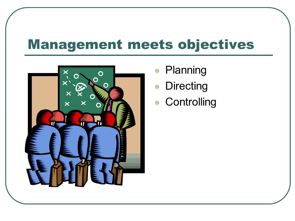 Management meets objectives