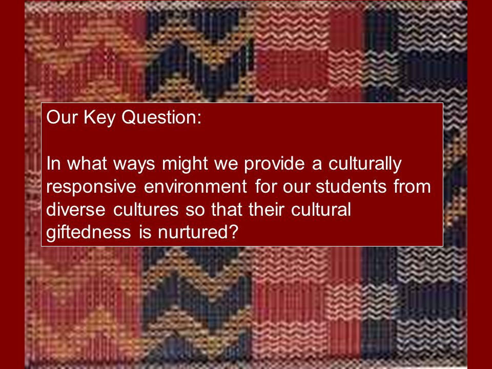 Our Key Question: