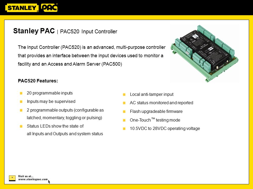 Stanley PAC | PAC520 Input Controller