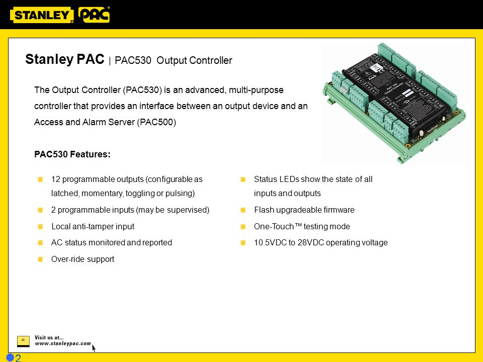 Stanley PAC | PAC530 Output Controller