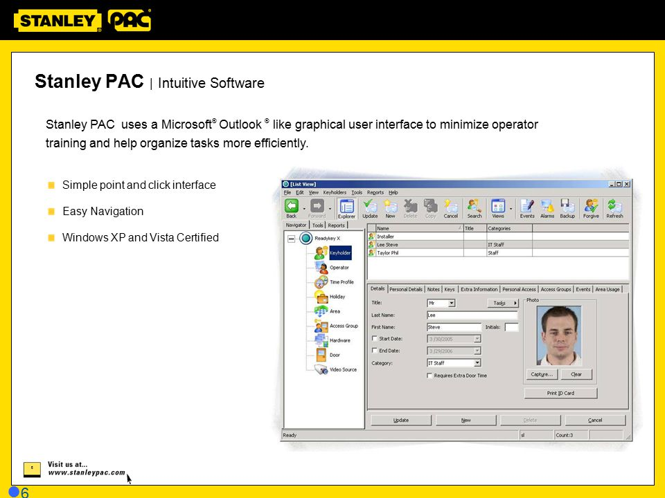 Stanley PAC | Intuitive Software