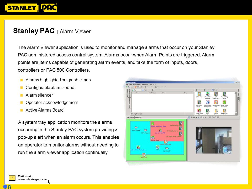 Stanley PAC | Alarm Viewer