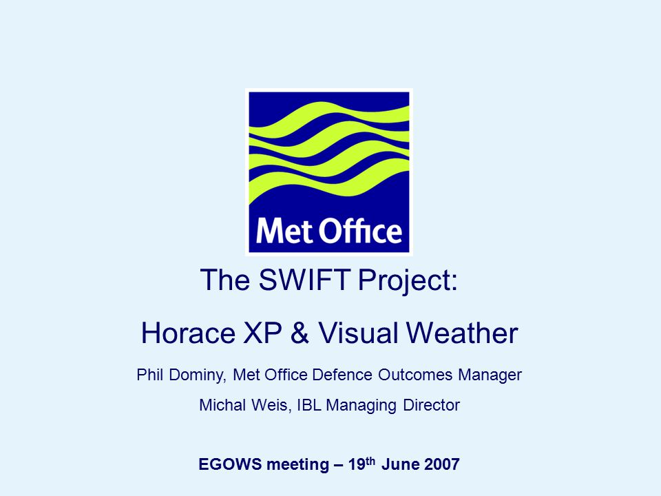 Horace XP & Visual Weather