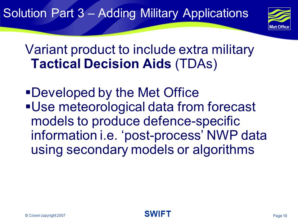 Solution Part 3 – Adding Military Applications