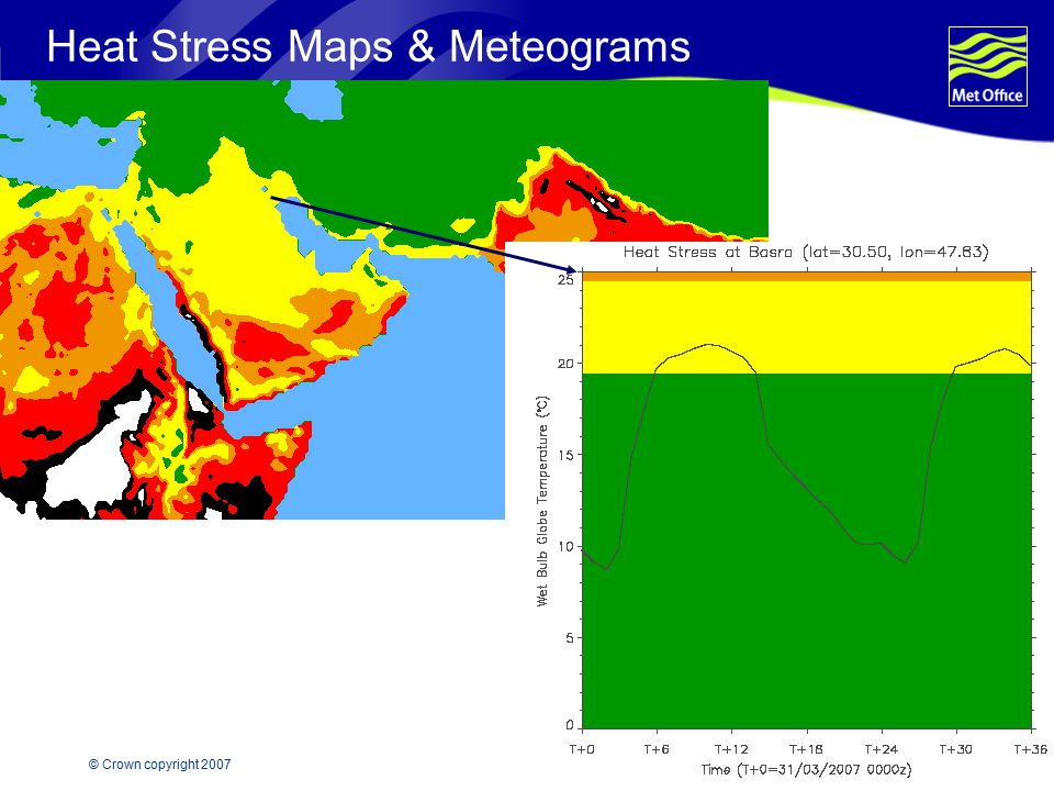 Heat Stress Maps & Meteograms