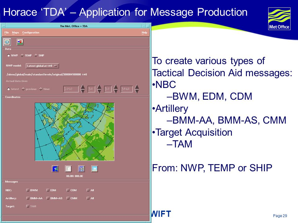 Horace 'TDA' – Application for Message Production