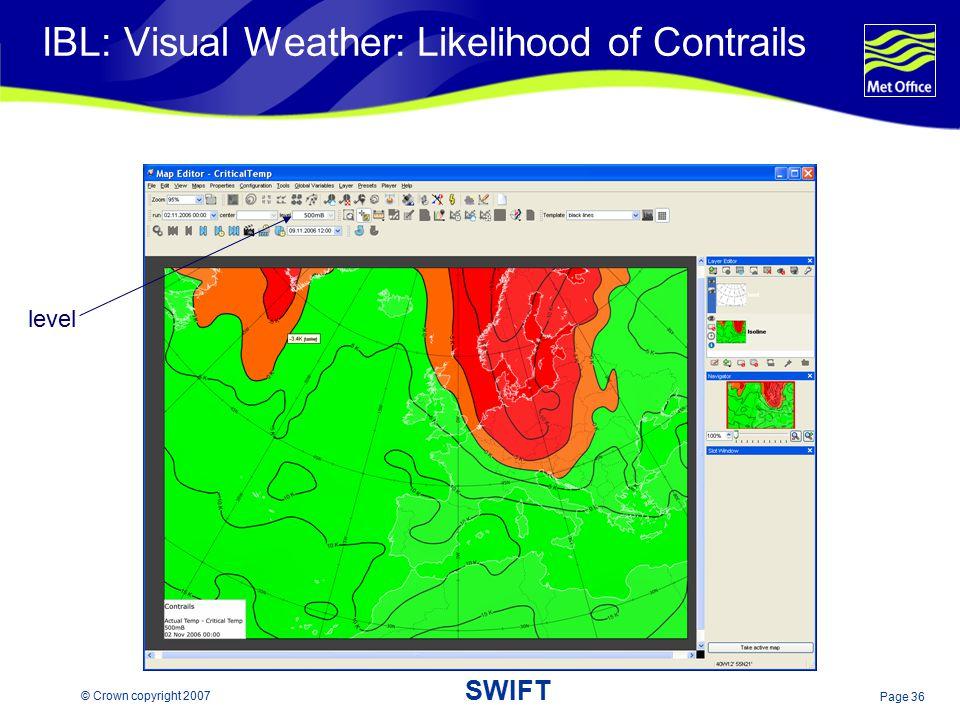 IBL: Visual Weather: Likelihood of Contrails