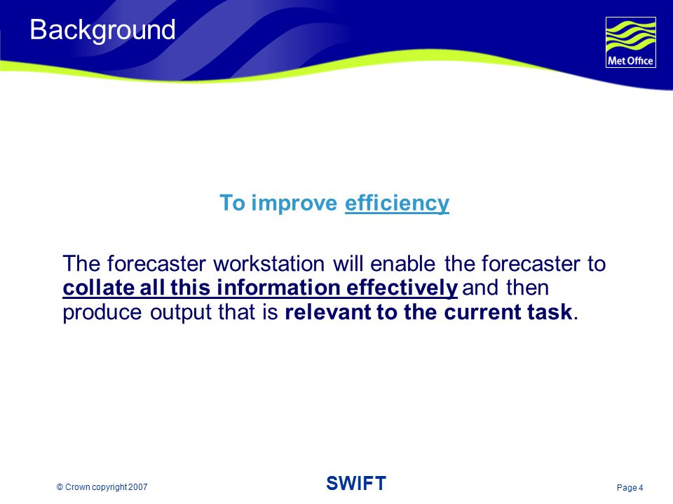 Background To improve efficiency