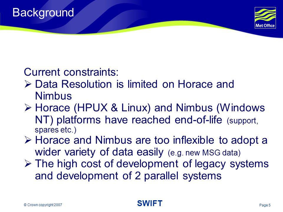 Background Current constraints: