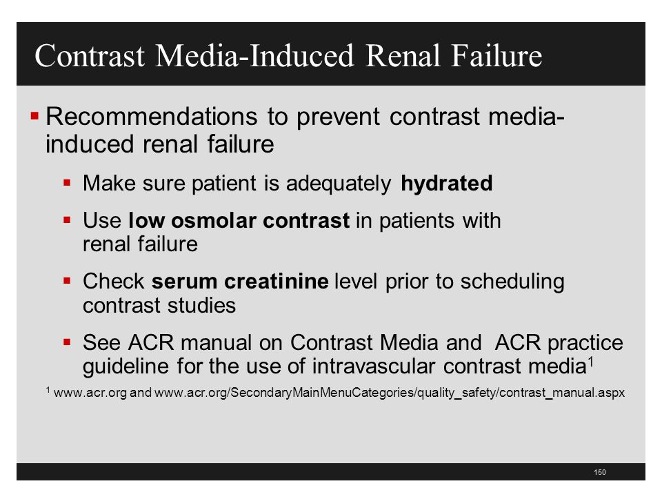 Contrast Media-Induced Renal Failure