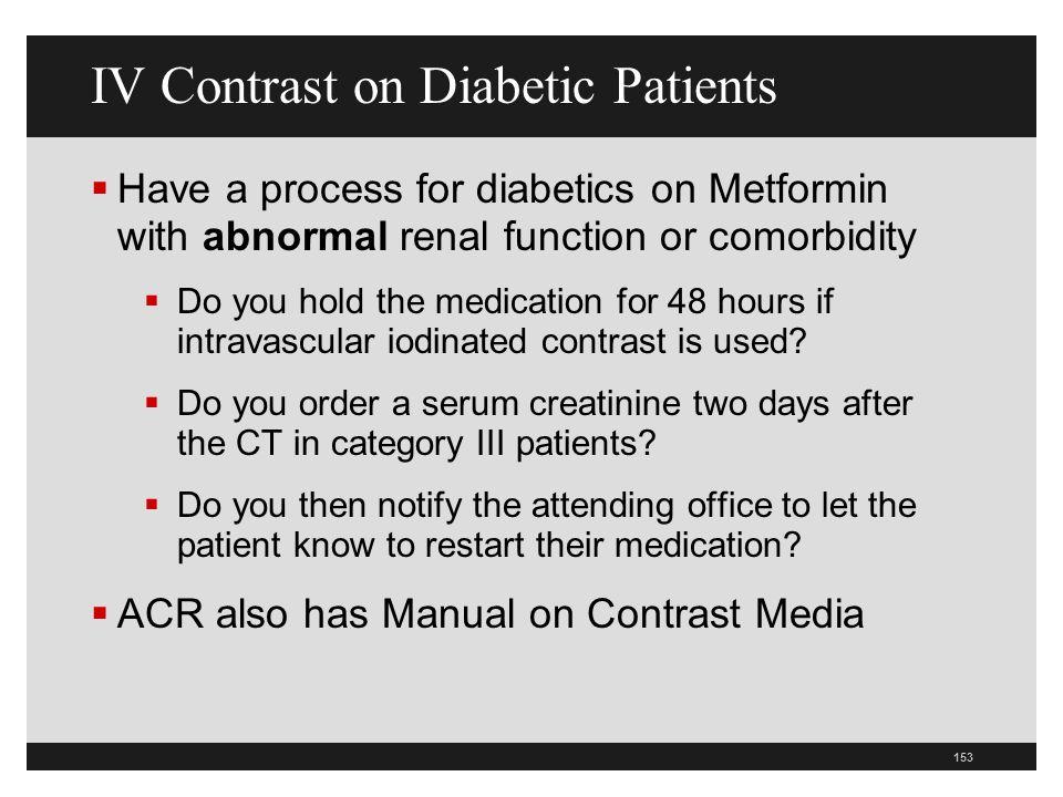 IV Contrast on Diabetic Patients