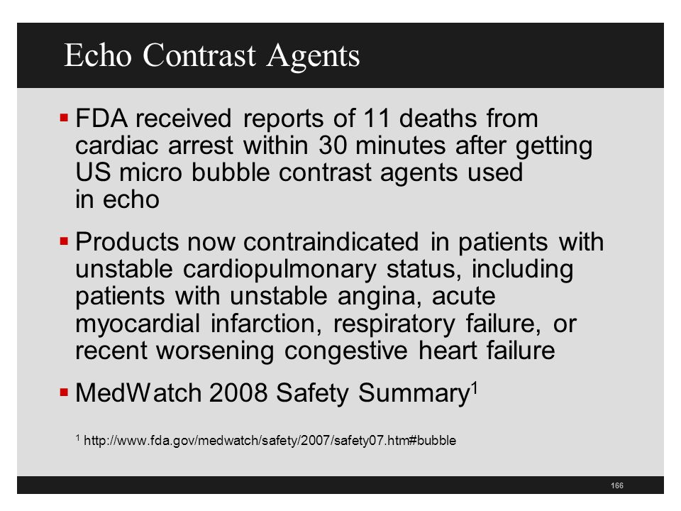 Echo Contrast Agents