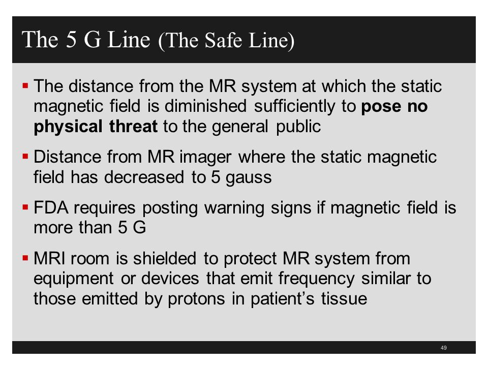 The 5 G Line (The Safe Line)