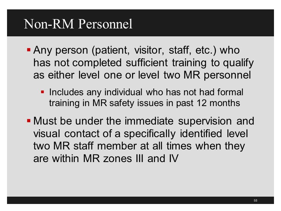 Non-RM Personnel