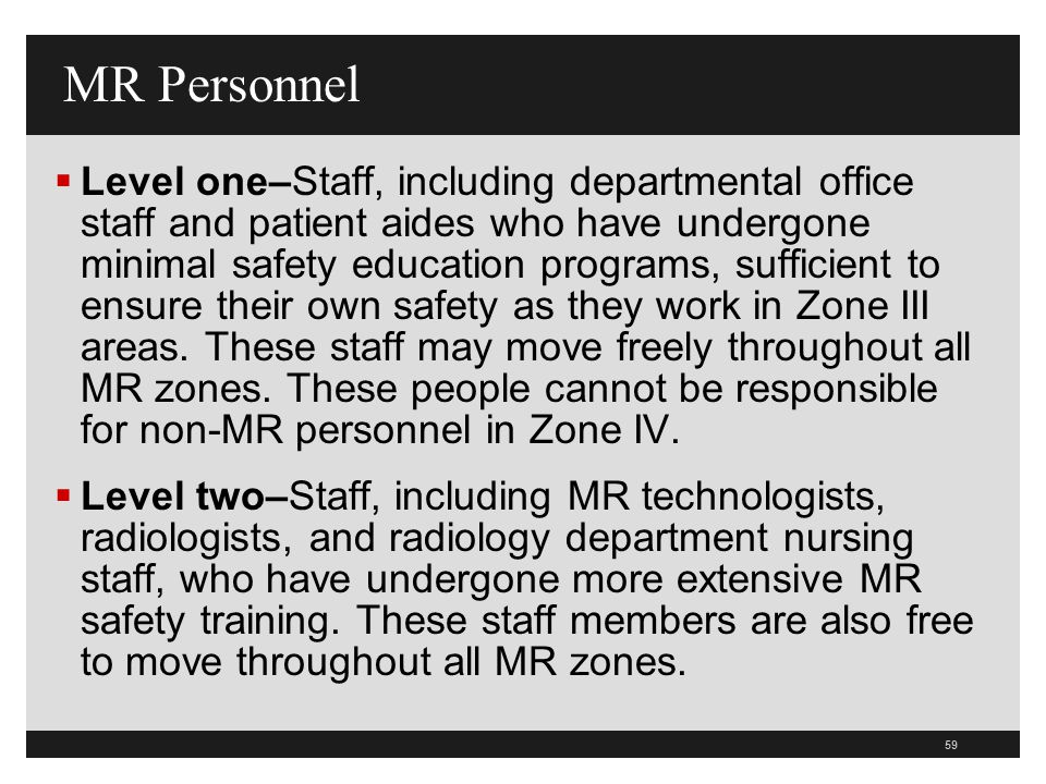 MR Personnel