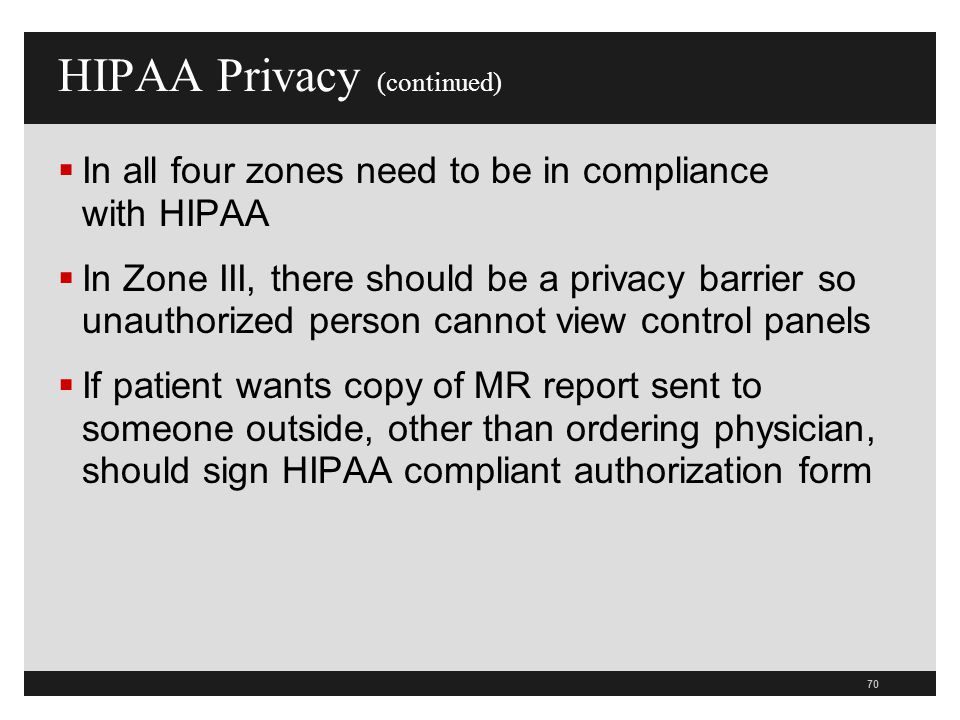 HIPAA Privacy (continued)