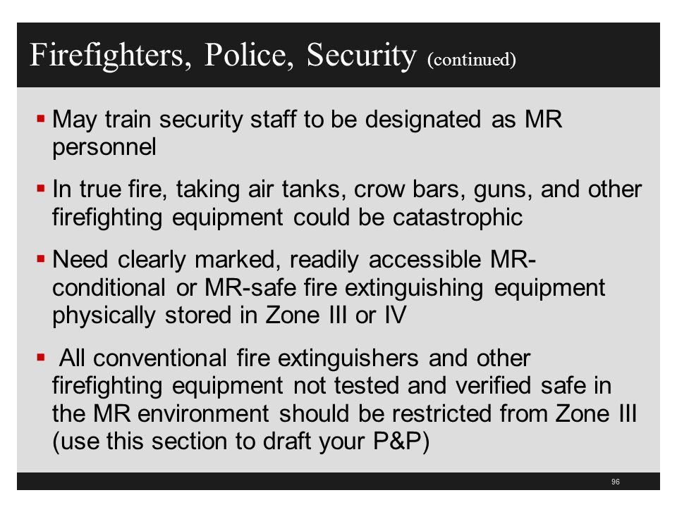 Firefighters, Police, Security (continued)