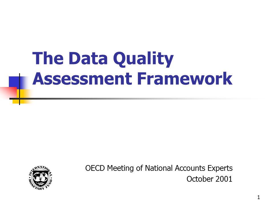 The Data Quality Assessment Framework