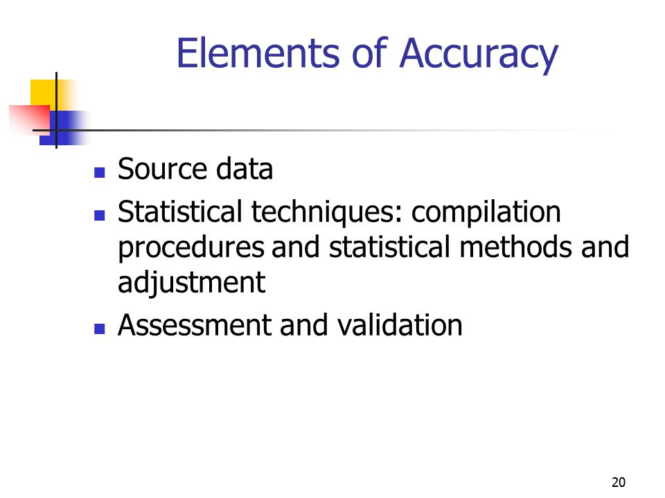 Elements of Accuracy Source data
