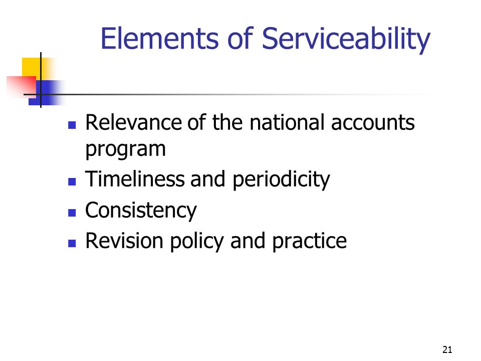 Elements of Serviceability
