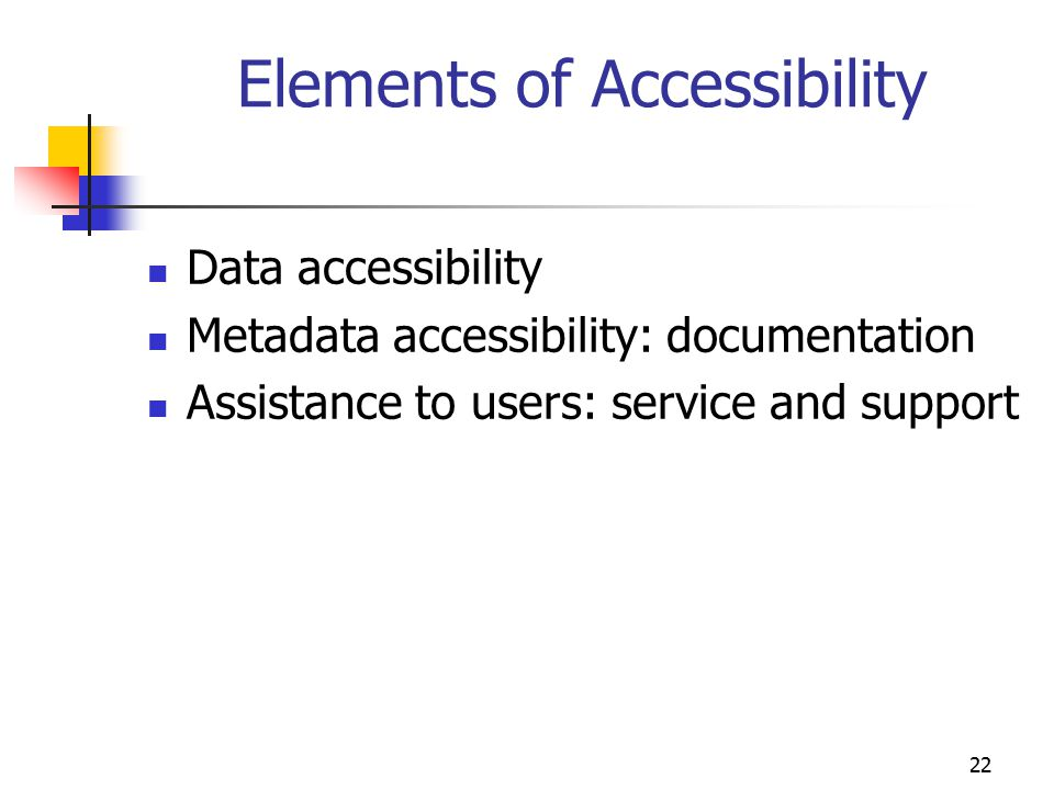 Elements of Accessibility
