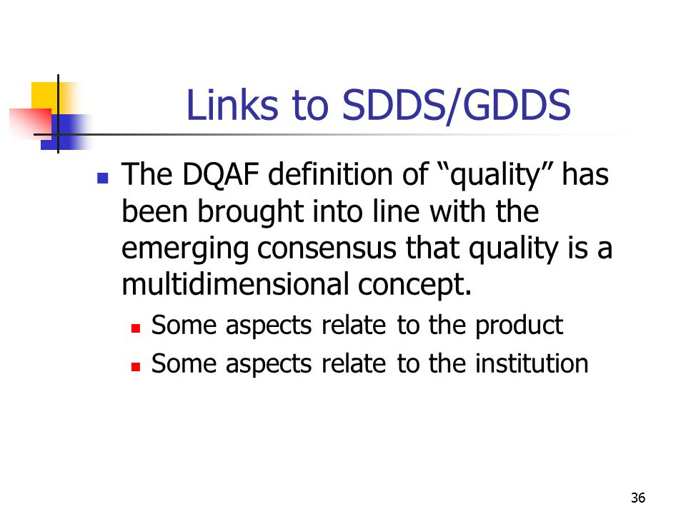 Links to SDDS/GDDS