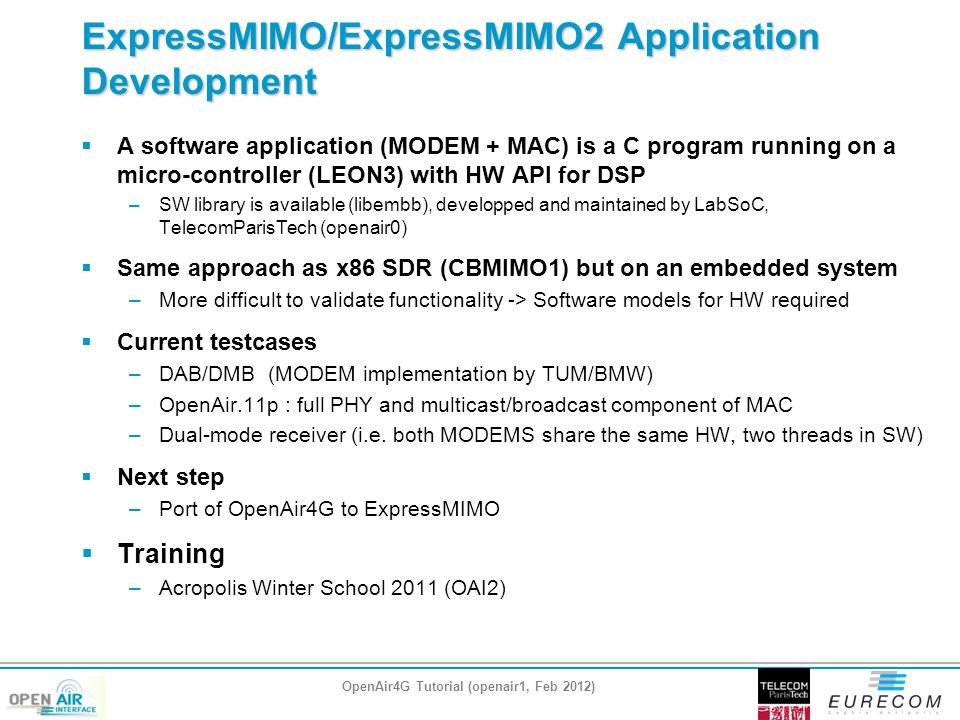 ExpressMIMO/ExpressMIMO2 Application Development