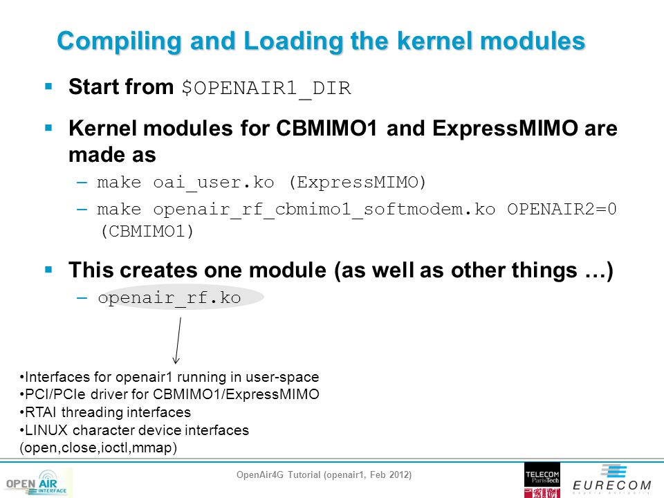 Compiling and Loading the kernel modules