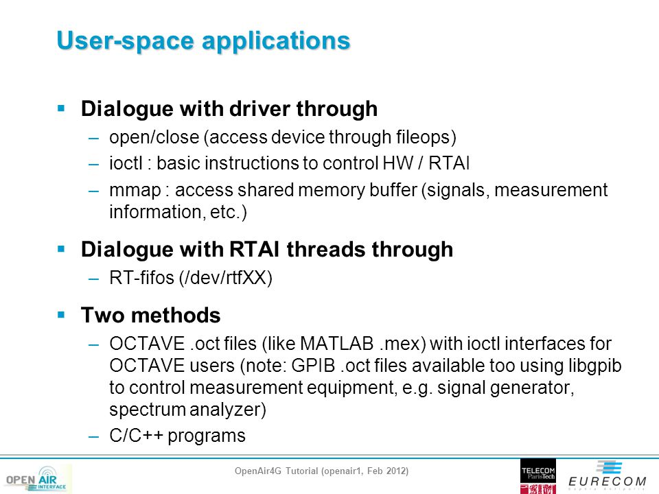 User-space applications