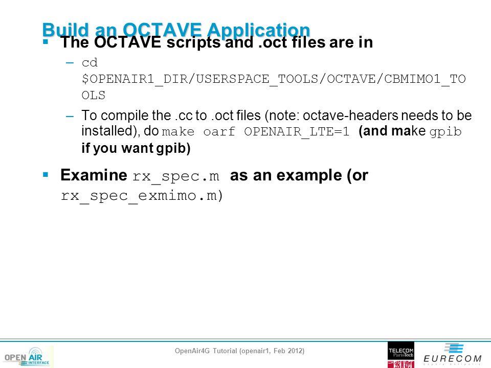 Build an OCTAVE Application