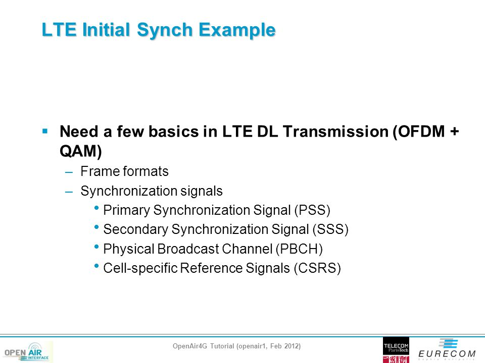 LTE Initial Synch Example