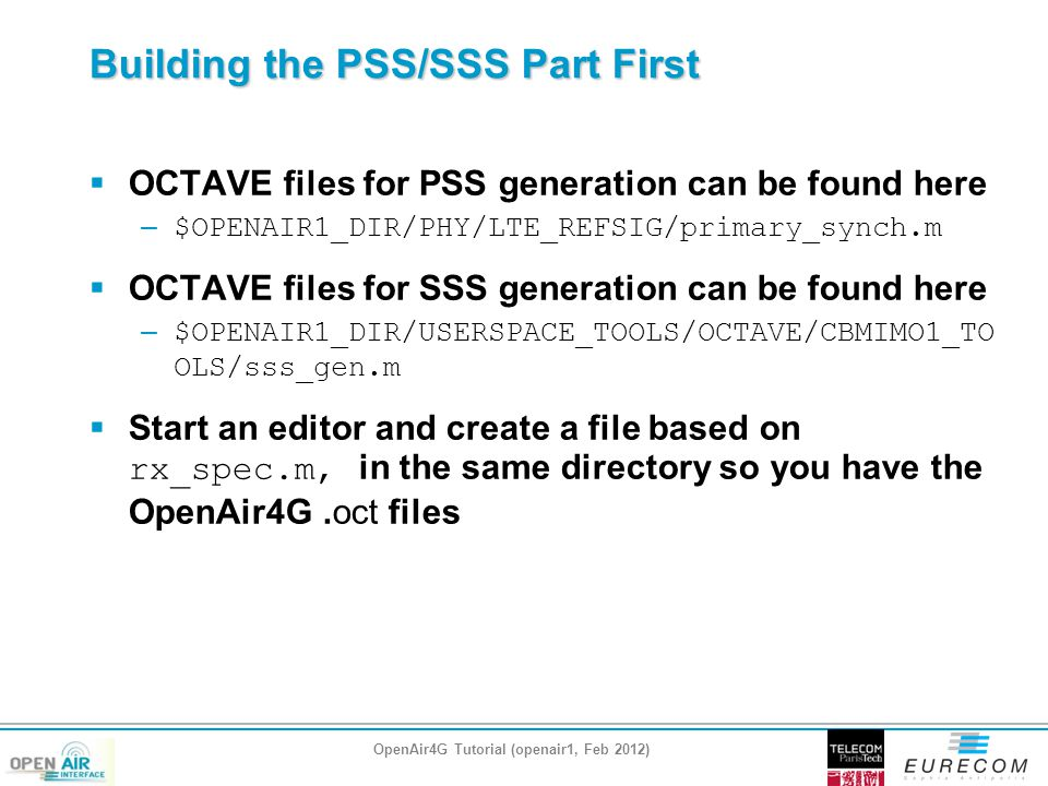Building the PSS/SSS Part First