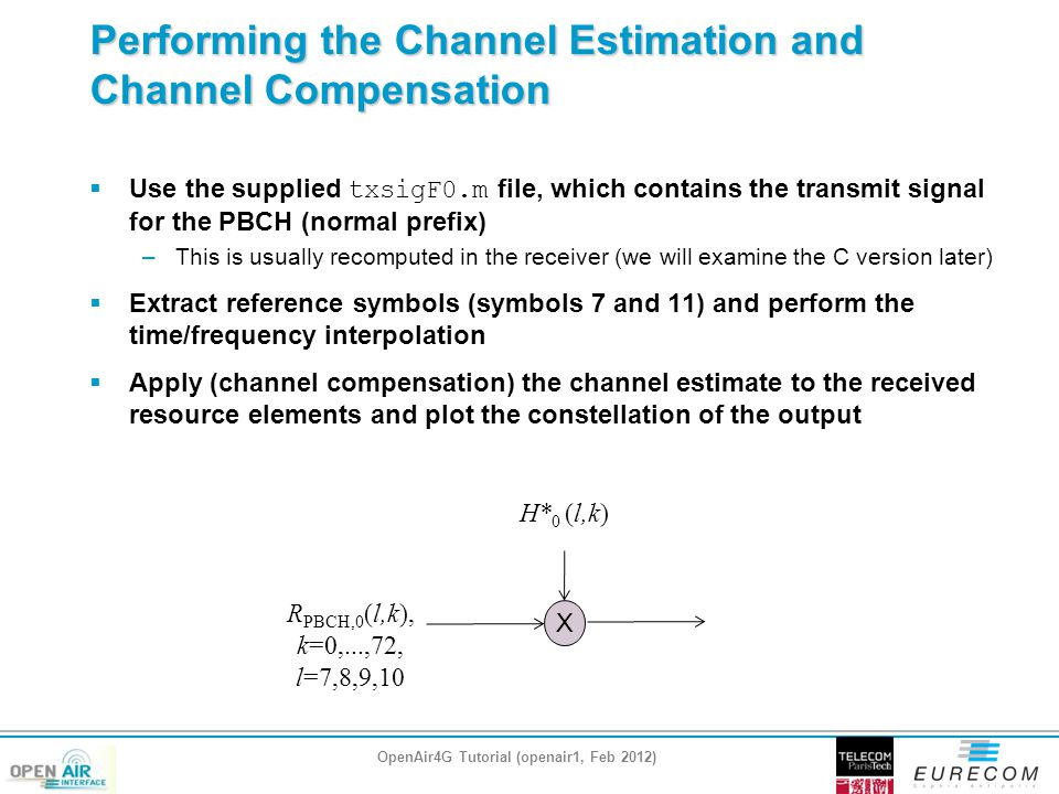 Performing the Channel Estimation and Channel Compensation