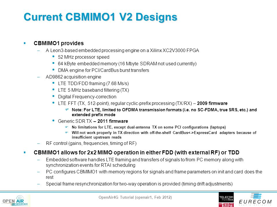 Current CBMIMO1 V2 Designs