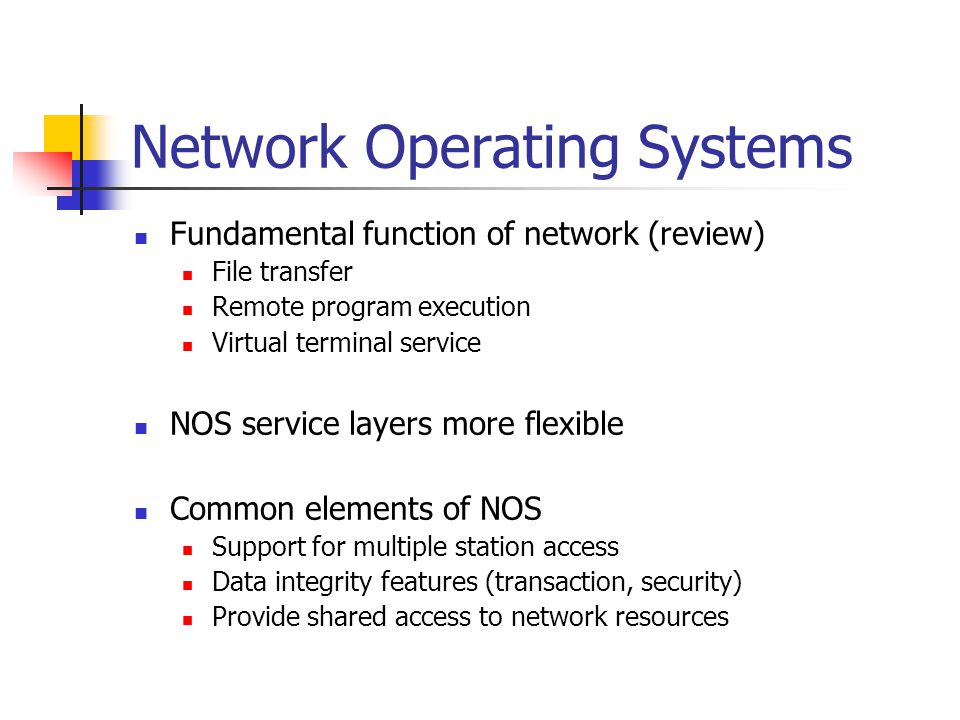 network operating systems ppt video online download