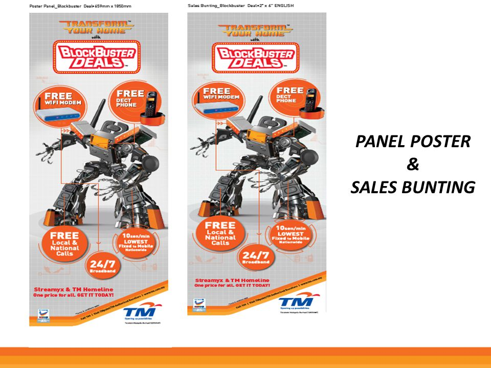 Panel poster & Sales bunting