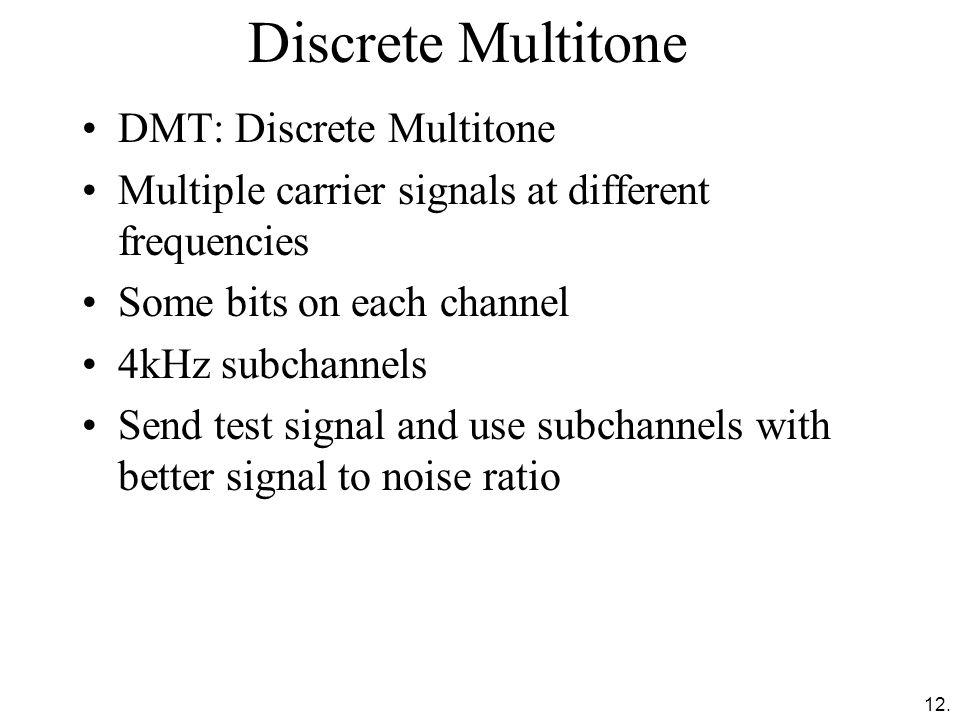 Discrete Multitone DMT: Discrete Multitone