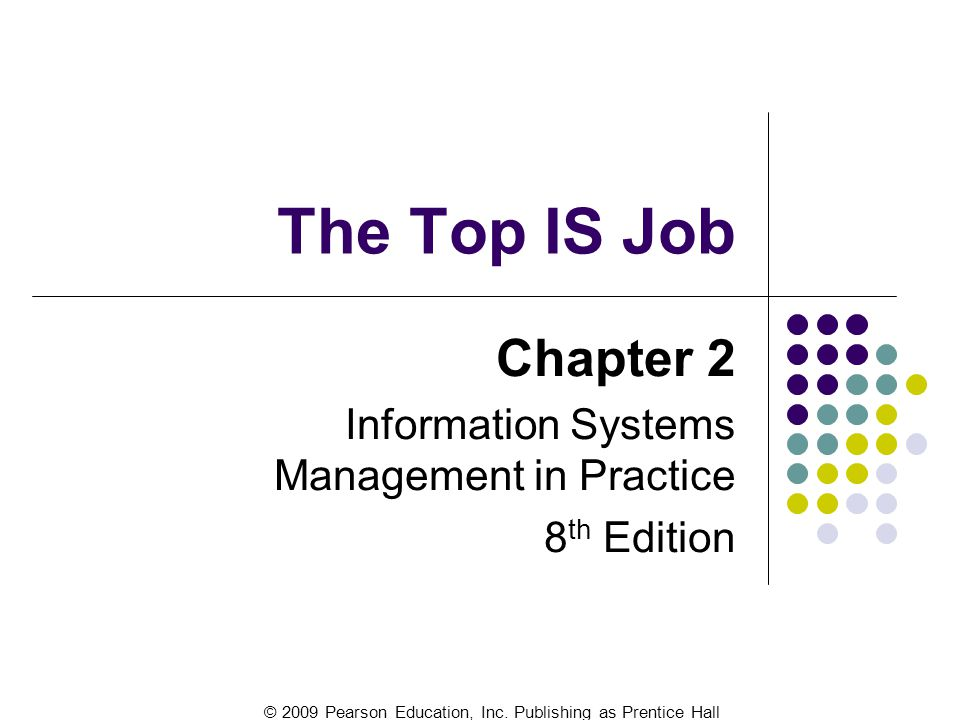 Chapter 2 Information Systems Management in Practice 8th Edition